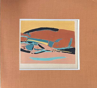 HAYDEN Henry (1883-1970)  Paysage  Lithographie (insolation)  signée en bas à droite....
