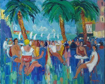 DUPERAY Alain, né en 1949  Paysage du Sud,...