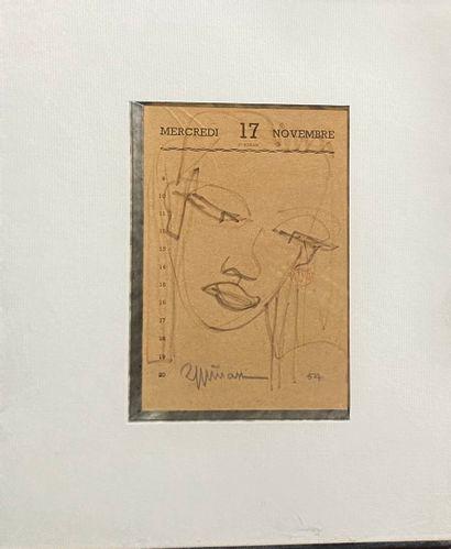 ESPINASSE Raymond, 1897-1985  Visage féminin,...