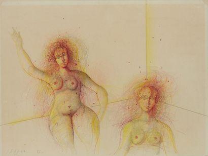 CARZOU Jean, 1907-2000  Figures, 1982  crayon...