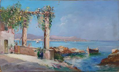 BERARD Régis, 1899-1978  Terrasse en bord...