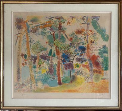 LEGUEULT Raymond (1898-1971)  Jardin  Lithographie...
