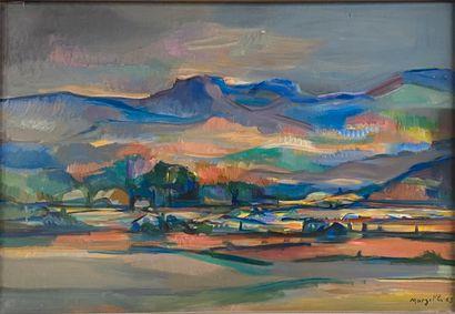 MARZELLE Jean, 1916-2005  Paysage, 1963  huile...