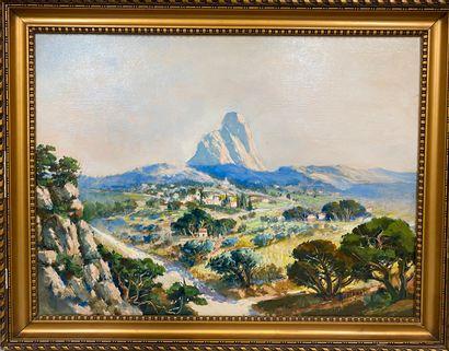 AUDIBERT, XXe siècle  Vue sur la Sainte Victoire...