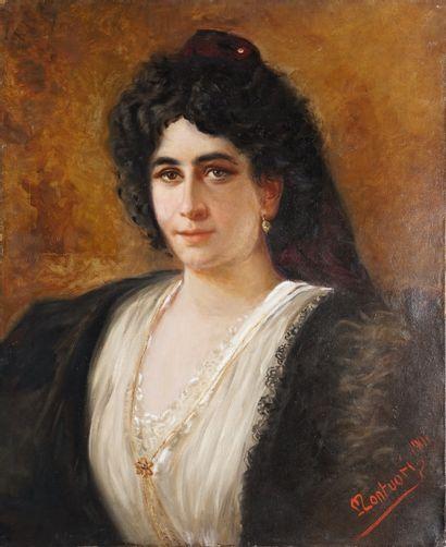 MONTUORY Carlo, 1885-1968  Jeune femme au...