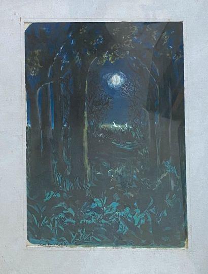 MALCLÈS Jean-Denis, 1912-2002  Forêt au clair...