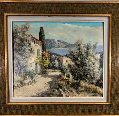 POTRONAT Lucien, 1889-1974  Mas en bord de...