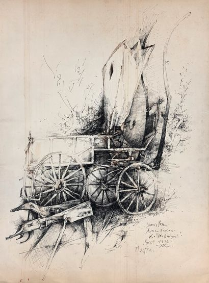 PONS Louis, 1927-2021 Hippomobile, avril...