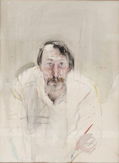 BOTSOGLOU Chronis, né en 1941  Autoportrait...