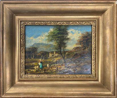 MUSIARI Elso, né en 1922  Paysages de campagne...