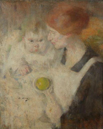 HOW Béatrice, 1867-1932 Mère et enfant au...