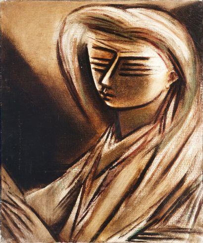 GONZALEZ Roberta, 1909-1976,  Femme en brun,...