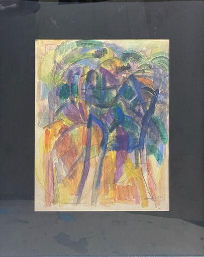 MARZELLE Jean, 1916-2005  Les arbres, 1952...