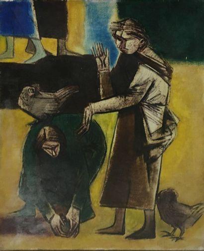 GONZALEZ Roberta, 1909-1976,  Paysannes aux...