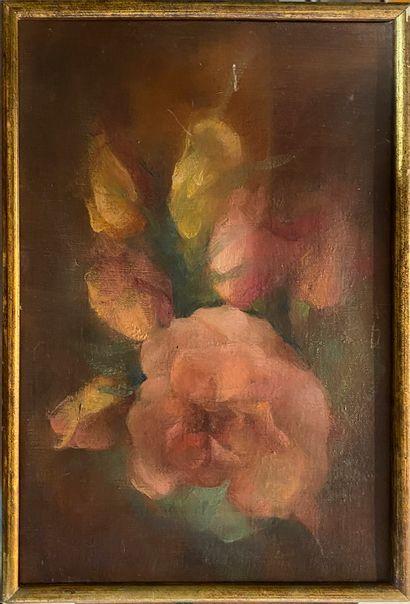 DECKERS, XXe siècle  Roses, Paris, 1963  huile...