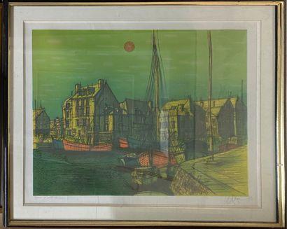 CARZOU Jean , 1907-2000 Untitle, Honfleur, 1973  colour lithograph n°EA XVII/XX,...