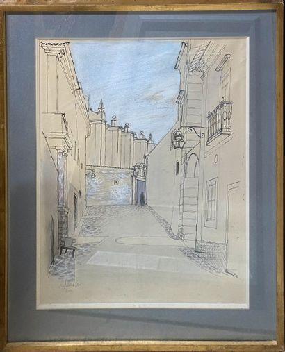 CHAPELAIN-MIDY Roger, 1904-1992  Ruelle  dessin...