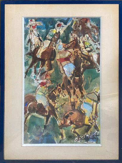 GAILLARDOT Pierre, 1910-2002  Les Jockeys...
