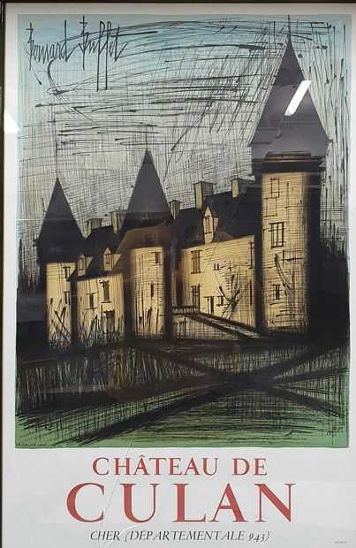 BUFFET Bernard, 1928-1999  Culan Castle in the Cher  lithograph poster in colours,...