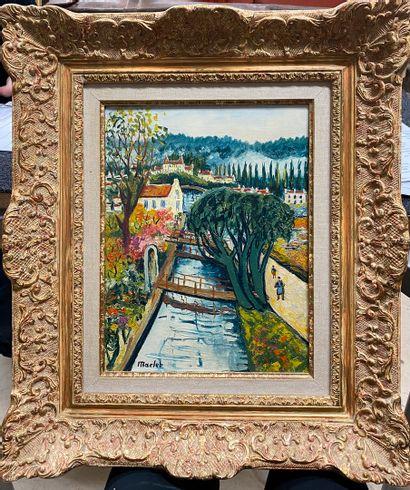 MACLET Élisée, 1881-1962  L'Yvette à Bures-sur-Yvette...