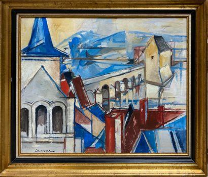 DESPIERRE Jacques, 1912-1995  Vue de Montrichard...