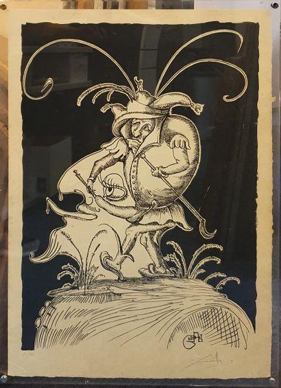DALI El Salvador, 1904-1989  Pantagruel's Les Songes drolatiques, 1973  lithograph...