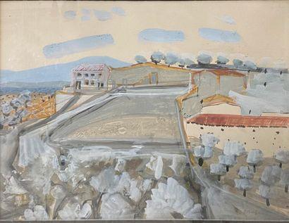 MICHEL HENRY, 1928-2016 Oropesa gouache,...