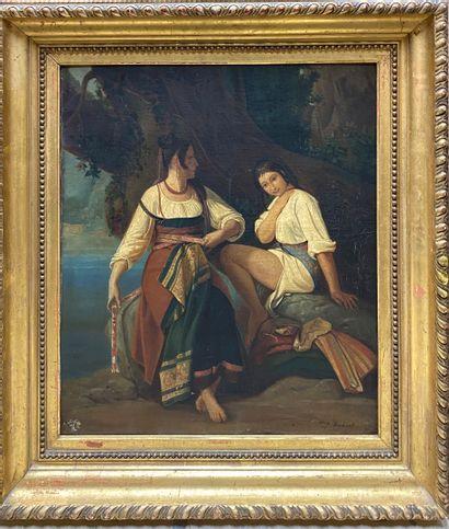 ÉCOLE FRANÇAISE DU XIXe siècle  Deux jeunes...