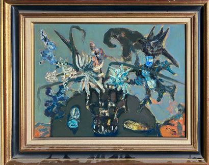 ALDE Yvette, 1911-1967  Nature morte grise,...
