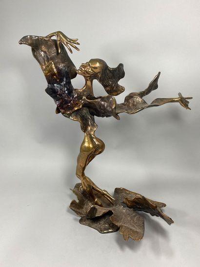 LOHE Yves, né en 1947  Danseuse  bronze à...