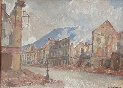 EHLINGER Maurice, 1896-1981  Une rue après...