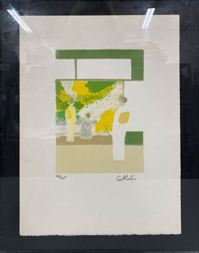 CATHELIN Bernard, 1919-2004  Intérieur japonais...