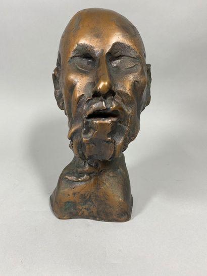 ROULLAND Jean ,né en 1931  Buste d'Hippocrate...