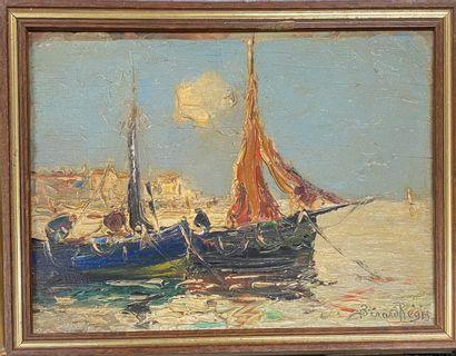 BERARD Régis, 1899-1978  Bateaux de pêche...