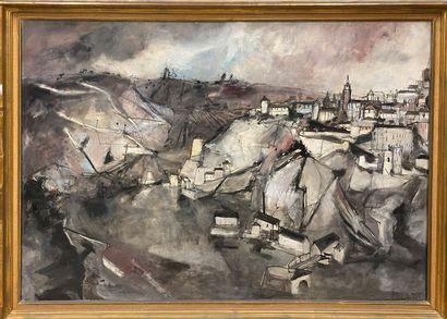 POLLET Jean, né en 1929  Tolède  huile sur...