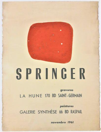 "Artist - Ferdinand SPRINGER (1907-1998) "" Engravings at La Hune bookshop and paintings..."