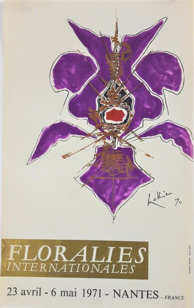 Artiste – Georges MATHIEU (1921-2012). Floralies...