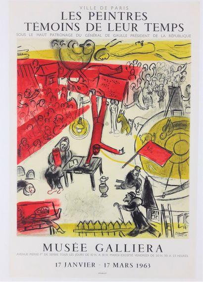 Artiste - Marc CHAGALL (1887-1985) d'après. « Les peintres témoins de leur temps,...