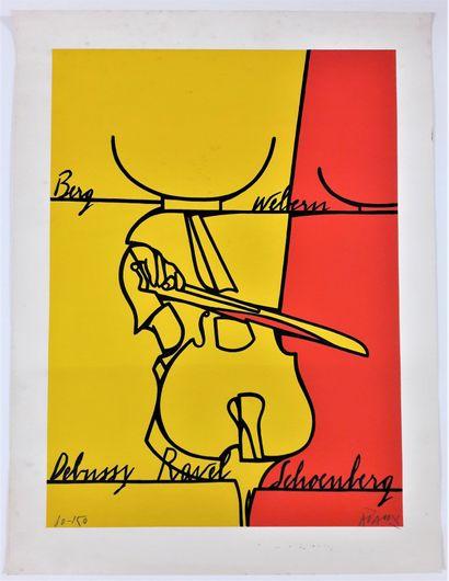 Artiste – Valerio ADAMI (1935-) «Berg, Webern,...