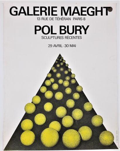 Artiste – Pol BURY (1922-2005) «Galerie...