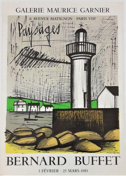 Artiste – Bernard BUFFET (1928-1999). «Paysages,...