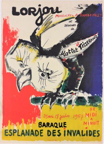 Artiste – Bernard LORJOU ( 1908-1986) «Lorjou,...