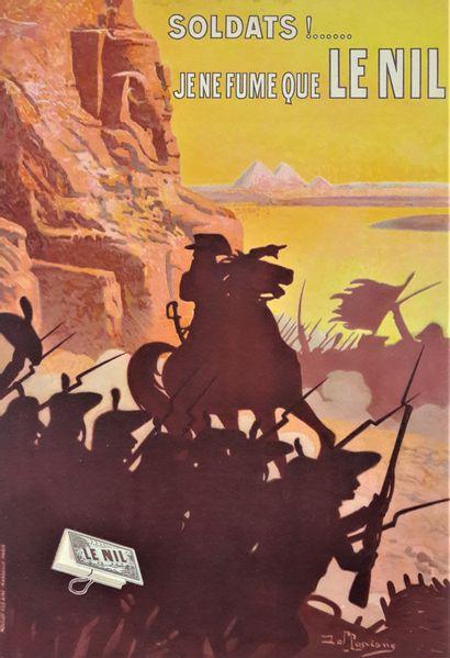 Artiste – David DELLEPIANE (1866-1932) «Je ne fume que Le Nil» circa 1900. Moullot...