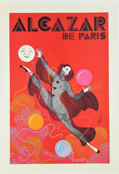 Artiste - ERTE (Romain de Tirtoff dit 1892-1990). Alcazar Paris. 60X40cm. Affiche...