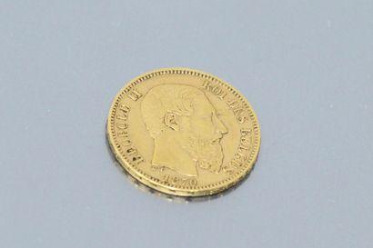 Pièce en or de 20 Francs Léopold II (1870)....