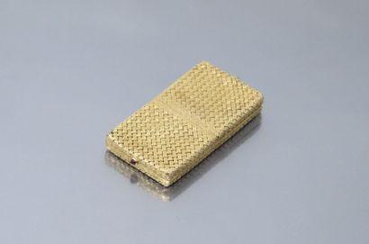 Pillulier en or jaune 18k (750) à maille...