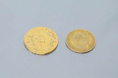 Two gold Napoleon