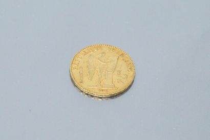 Gold coin of 20 Francs to the Engineers,...
