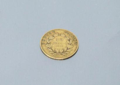 Pièce en or de 10 francs Napoléon III tête...