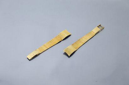 Débris de bracelet de montre en or jaune...